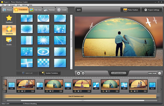 how to make a picture slideshow with music