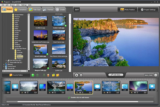 Smart slideshow maker interface